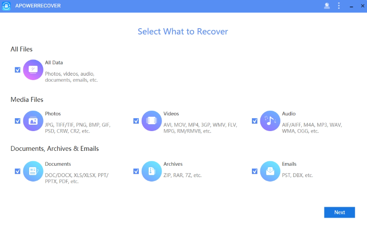 ApowerRecover 1.0.7.0 Crack Latest Version Download Free