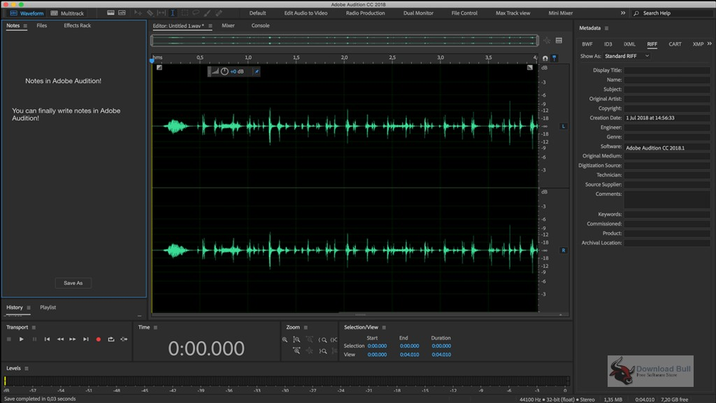 Portable Adobe Audition CC 2020 v13.0 Free Download