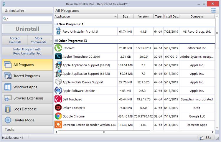 Revo Uninstaller Pro Crack 4.4.0 + Free Key Download [New]